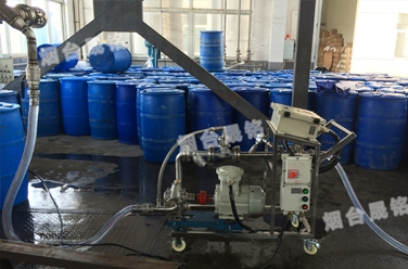 液体灌装案例:江苏溴素系列自动计量分装