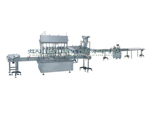 潍坊液体自动定量灌装线六头全自动食用油灌装机